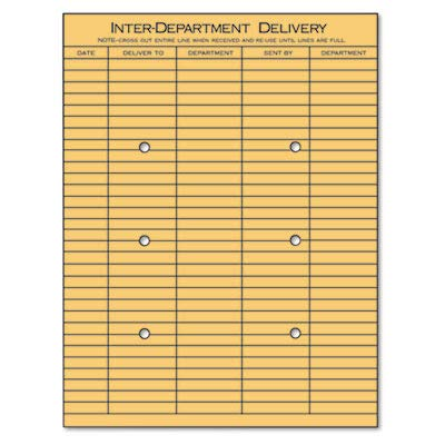 Universal 63568 Light Brown Kraft String & Button Interoffice Envelope, 10 x 13 (Box of 100) by Universal