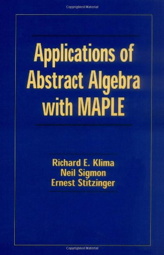 Applications of Abstract Algebra with Maple