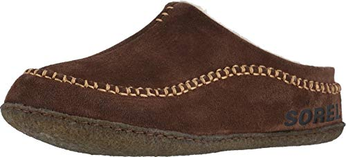 Sorel - Men's Falcon Ridge II House Slippers with Suede Upper and Wool/Polyester Lining, Tobacco, 10 M US