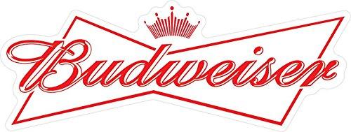 Craftmag Budweiser Logo Decorative Vinyl Sticker Decal Waterbotle Bumper Window Wall - 4 x 11 inch