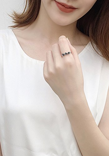 Generic Korean version of the new S925 sterling silver ring Thai women girls lady models jewelry flower opening ring do the old retro done by Generic