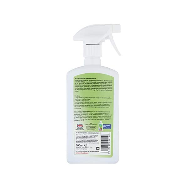 Nilco Antibacterial Cleaner And Sanitiser 500ml X 2 Multi Surface Spray