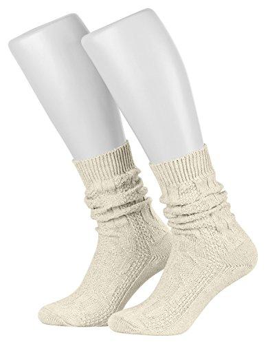 Piarini 1 Paar Trachten Socken mit Zopf-Muster im Landhaus-Stil 43-44
