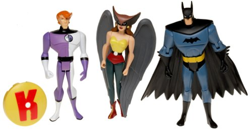 Justice League Unlimited Batman, Hawkgirl, & Elongated Man Action Figure Set by DC
