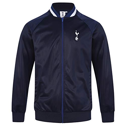 (Tottenham Hotspur FC Official Gift Mens Retro Track Top Jacket Navy Large)