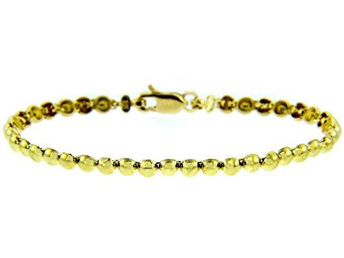 Petits Merveilles D'amour - 14 ct Or Jaune Bracelet - classique Perl Bracelet
