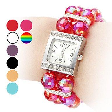 M.M.Women's Plastic Analog Quartz Bracelet Watch (Assorted Colors)