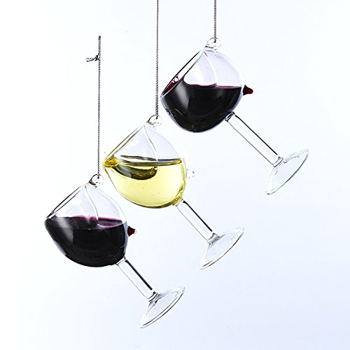 (Kurt Adler D2991 Set of 3, 2 Red Wine and 1 White Wine 4