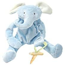 Bunnies By The Bay Peanut Silly Buddy Plush Toy, Blue Elephant with Pacifier Holder by Bunnies by the Bay