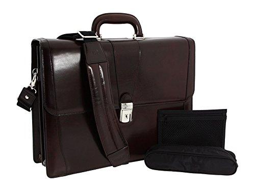 [ボスカ] Bosca メンズ Old Leather Collection - Double Gusset Briefcase ブリーフケース [並行輸入品] B01NAFQN7W Dark Brown Leather