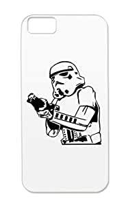 TPU Black For Iphone 5c Storm Trooper Art Design Galactic Empire Sith Empire Starwars Cartoon Stormtroopers Troopers Stormtrooper The Case