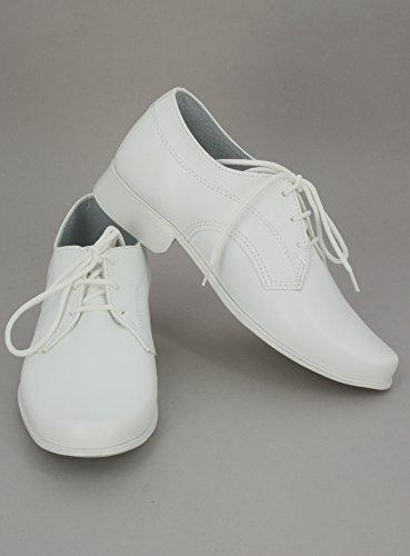 Weiße Schuhe für Jungen–Hochzeit oder Kommunion Weiß