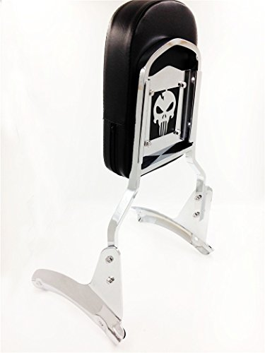 Motorbike skull Motorbike Backrest Sissy Bar Leather Pad For Honda Shadow Aero 1100