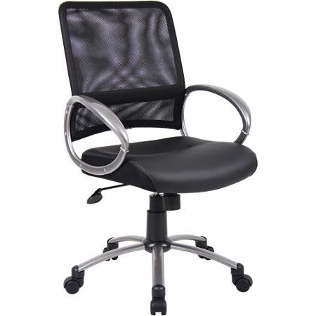 boss-leatherplus-executive-chair-with-loop-arms-pewter-finish