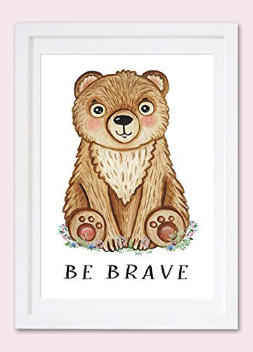 c39e184e13dac Amazon.com: Bear print art Forest animal decor Boy bear Nursery ...