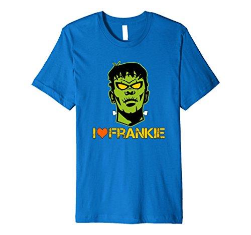 Monster Bolts Headband (Mens Funny Halloween I Love Frankie Frankenstein Neck Bolt Shirt 2XL Royal Blue)