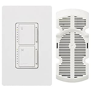 Lutron Ma Lfqhw Wh Maestro Fan Control And Dimmer Kit