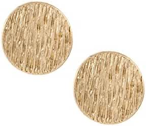 Karmas Canvas Textured Round Flat Post Earring