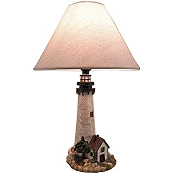 Metal U0026 Resin Table Lamps House On The Shore Decorative Lighthouse Table  Lamp 12 X 18