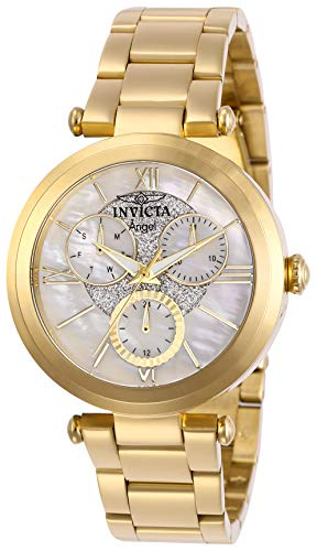 Invicta Women's Angel Quartz Stainless-Steel Strap, Gold, 18 Casual Watch (Model: -