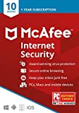 McAfee Internet Security, 10 Device, Antivirus Software, 1 Year Subscription, Password Manager- [Key card ] - 2020 Ready