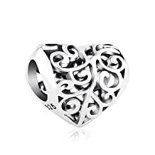 Lovans 925 Sterling Silver Love Charm Tree Of Life Charm Bead fit Trollbeads,Chamilia Bracelets For Women …