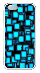 iPhone 5s Cases & Covers -Blue Party Neon Square TPU Custom Soft Case Cover Protector for iPhone 5s - White