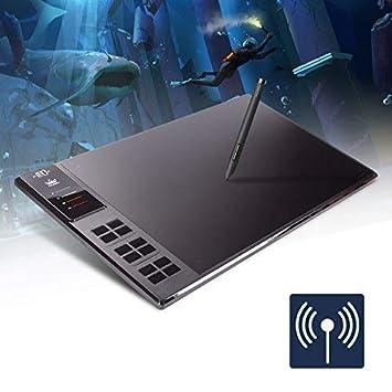 HUION Giano WH1409 Tableta Gráfica Huge Wireless Graphics Drawing Pen Tableta con 12 Express Keys, Tarjeta SD de 8GB para Mac y Windows PC