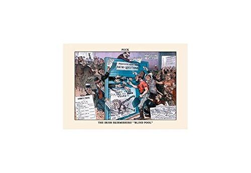- Buyenlarge Puck Magazine: The Irish Skirmishers'Blind Pool Print (Black Framed Poster Print 20x30)