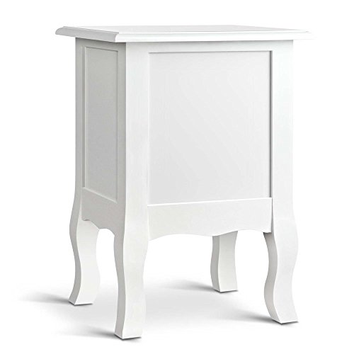 Vintage Bedside Side Vintage with Table Drawers Style 2 Style White FfwnP5