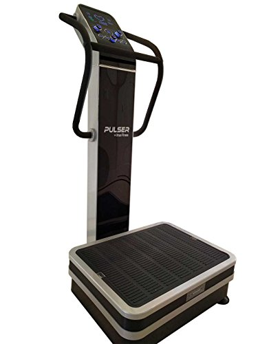 Pulser 2 Whole Body Vibration Machine; Newest 2016 Dual Vibration, 3 Vibration Modes; Premium Home; 440 Lb Limit, Rear Wheels