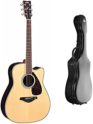 Yamaha fgx730sc parte superior sólida guitarra electroacústica ...
