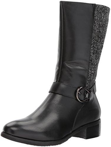Propet Women's Tessa Riding Boot, Black, 8 W US