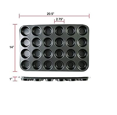 Excellante 24 cup Muffin Pan - Non Stick-0.4m/m from Thunder Group
