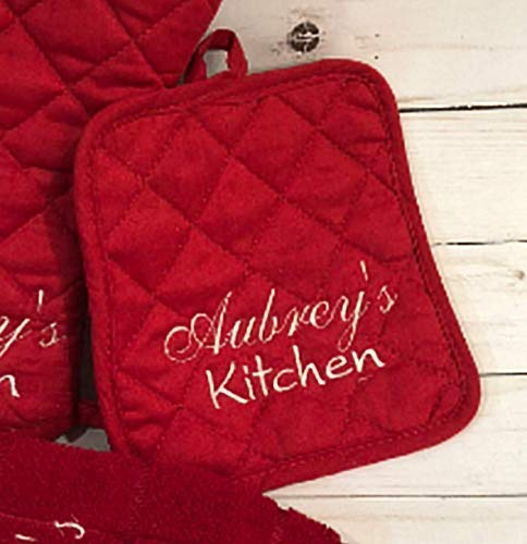 Personalized, Embroidered Pot Holder, Name's Kitchen