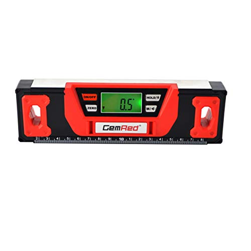 GemRed Digital Level Angle Slope Pitch Measure (YD-I Level with Magnets 200mm)