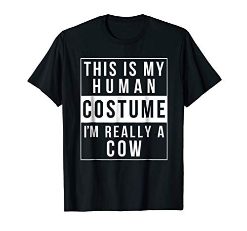Cow Halloween Costume Shirt Funny Easy for kids adults]()