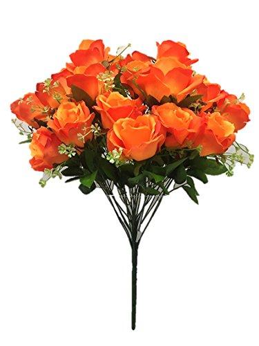 Silk Flower Garden Artificial Rose Bouquet 24 Blooms 23