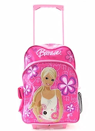 Amazon.com: Barbie Rolling Backpack Pink School bag with wheels ...