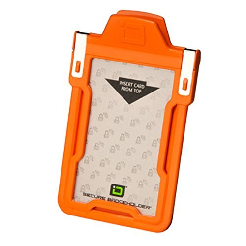 Identity Stronghold Secure Badge Holder Classic, Orange (IDSH1004-001B-org) by Identity Stronghold