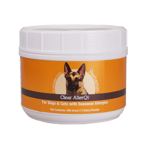 Herbsmith Clear AllerQi – Allergy Aid for Cats and Dogs – Pet Allergy Support – Anti Itch Pills for Dogs and Cats – 500g Powder by Herbsmith
