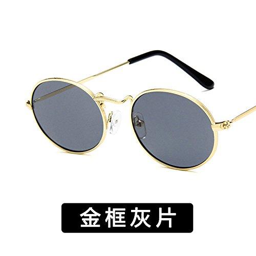 Moda Y c Xue 18 De C Hembra Sol zhenghao Macho Oval De Metal 2 Gafas r7wqywXBO0