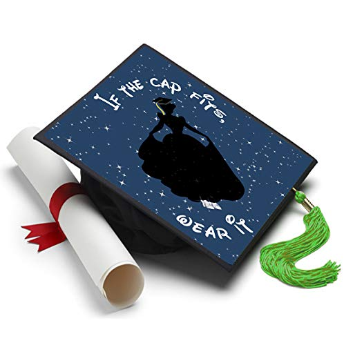 Tassel Toppers Cinderella - Disney Grad Cap Decorated Grad Caps - Motivational Inspirational Grad Caps ()