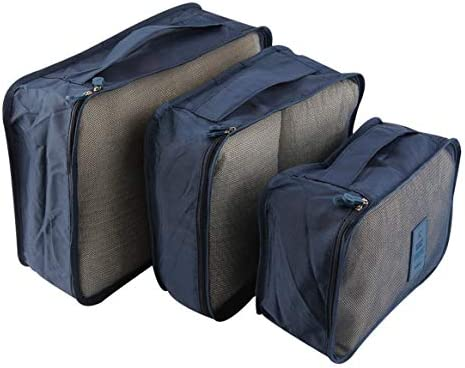 Delicacydex 6 Teile/Satz Tragbare Wasserdichte Kleidung Aufbewahrungstasche Verpackung Cube Reisegepäck Organizer Durable Kleidung Socke BH Aufbewahrungstasche