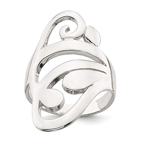 925 Sterling Silver Scroll Band Ring Size 7.00 Fine Jewelry Gifts For Women For Her (Ring Antique Scroll)