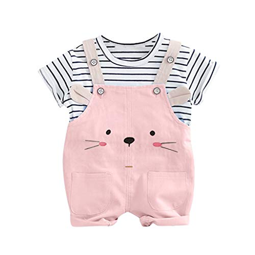 NUWFOR Toddler Baby Kids Boys Girls Stripe Tops
