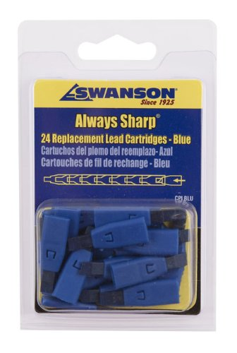 swanson-cplblu-black-replacement-lead-cartridges-for-alwayssharp-carpenter-pencil-24-count