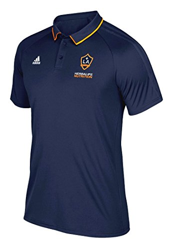 (MLS Los Angeles Galaxy Men's Authentic Sideline Coaches Polo, Large, Navy)