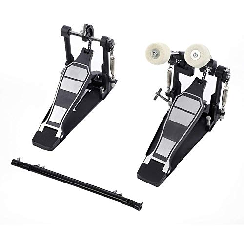 - Drums Pedal, Double Bass Dual Foot Kick Percussion Drum Set Accessories