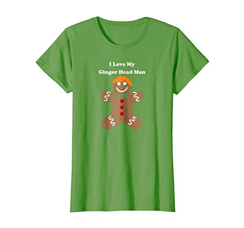 Womens I Love My Ginger Head Man - Red Hair - Tee Shirt Large (Ginger Cat Costumes)